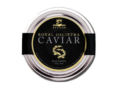 Royal Oscietra Caviar in a glass jar
