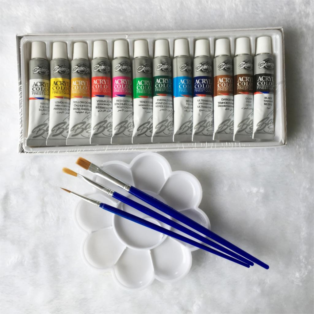 12 Color Full Acrylic Paint Set (12 ml)