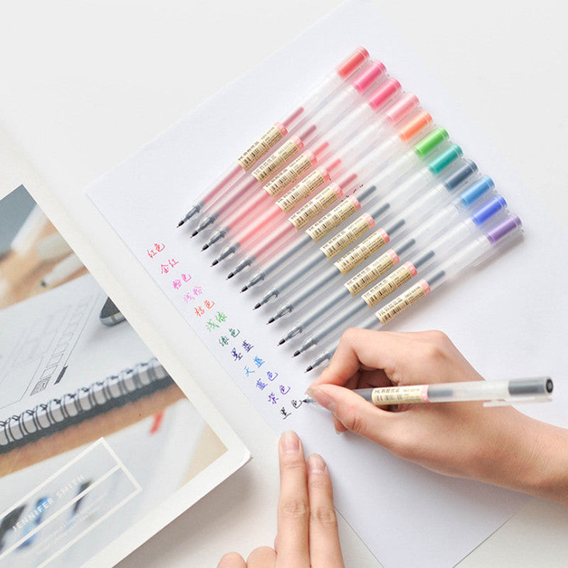 12 Piece Muji Gel Pen Set
