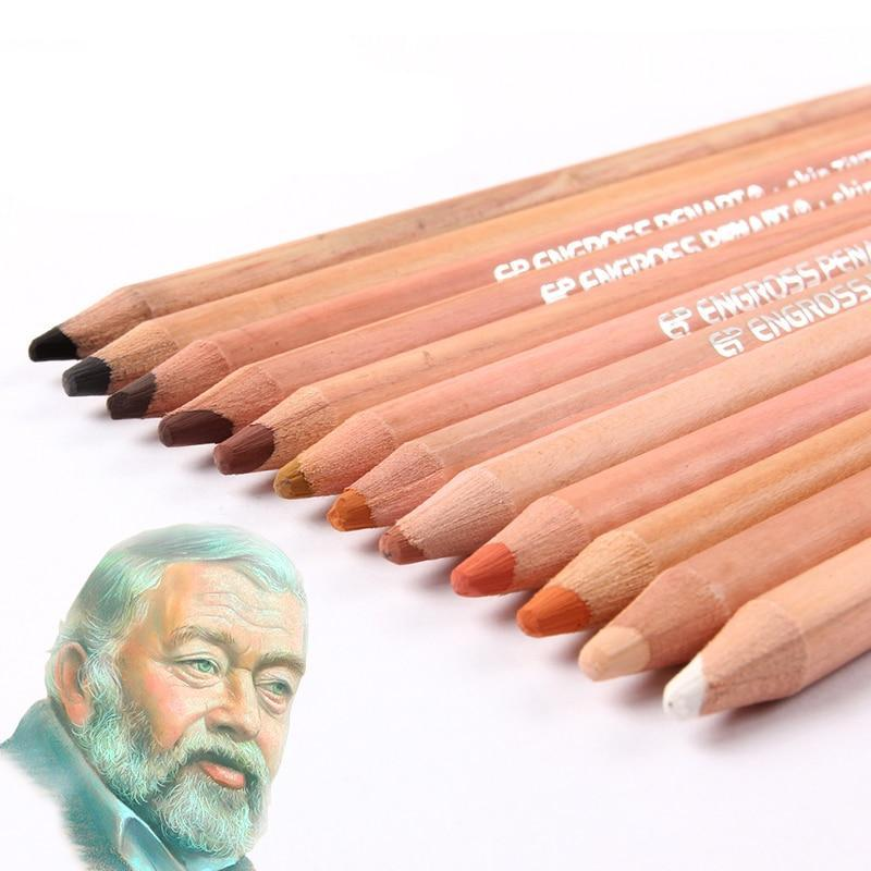 12 Soft Skin Toned Pastel Pencils