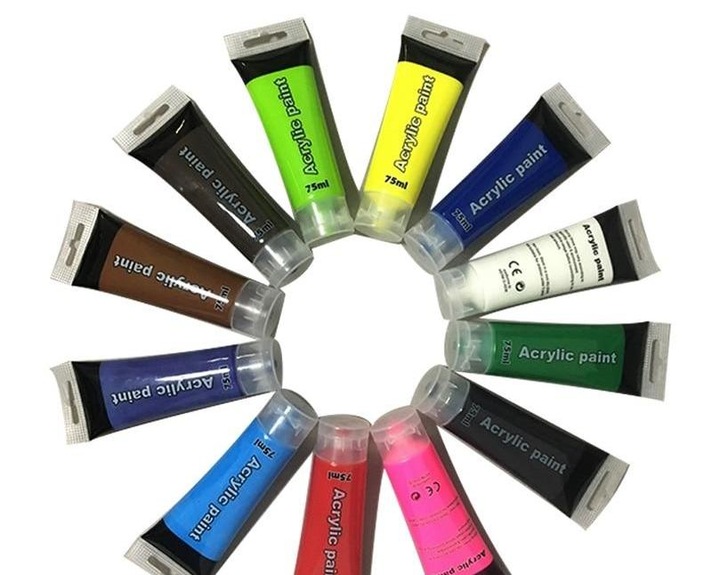 12 Color Acrylic Paint Set (75ml)