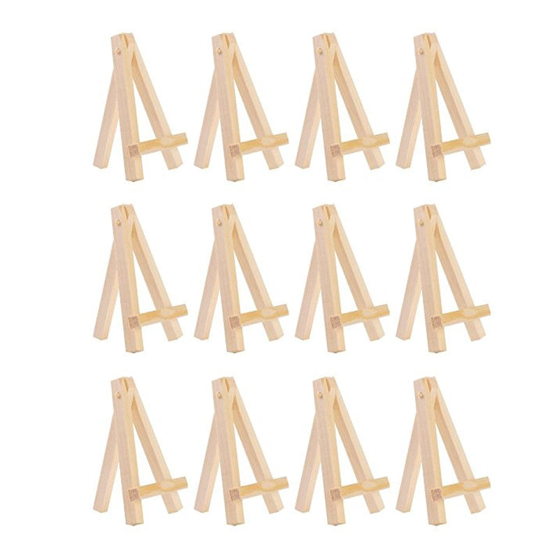 12 Piece Mini Wooden Easel Set For Kids