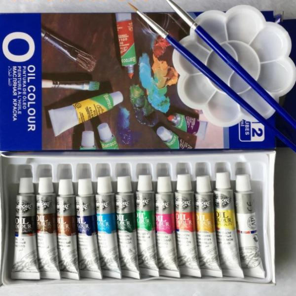 12 Color Oil Paint Set