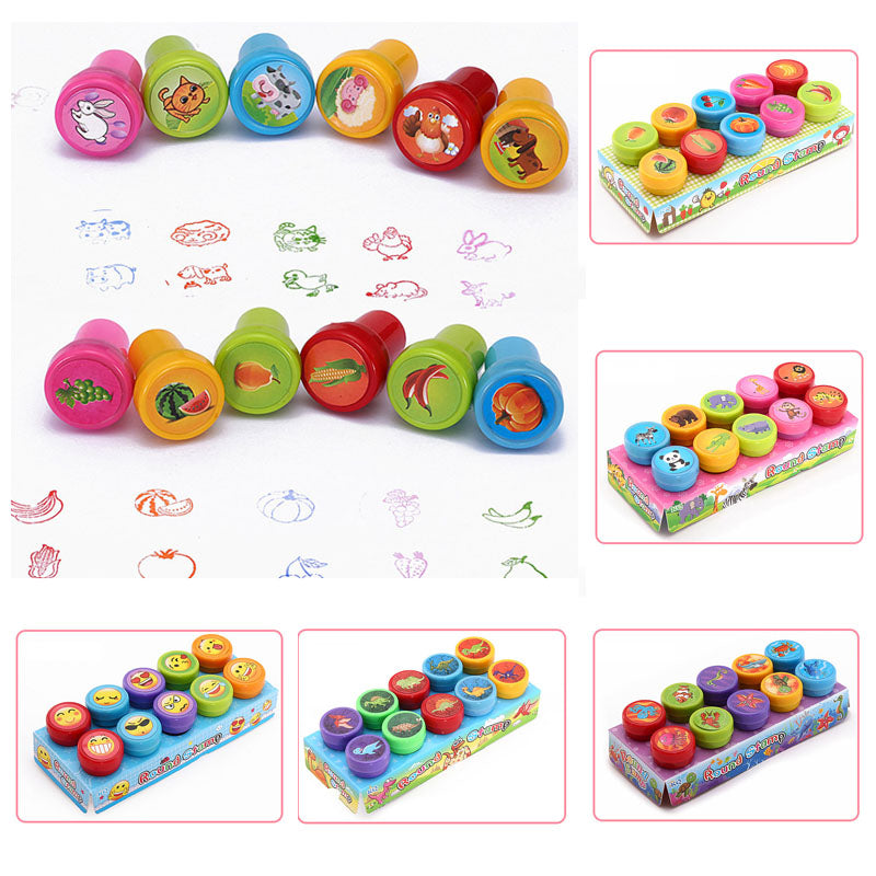 10 Pieces/Set Children Toy Stamps