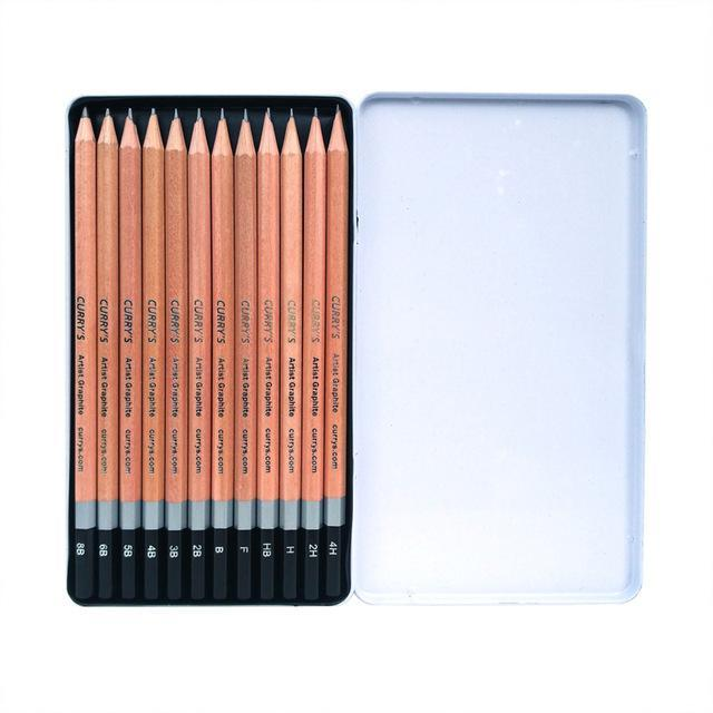 12 Piece Professional Pencil Set (4H-8B)