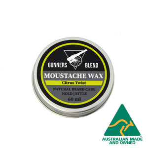 60ml Citrus Twist Moustache Wax - Gunners Blend