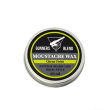 Load image into Gallery viewer, Citrus Twist 60ml Moustache Wax - Gunners Blend