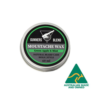 60ml Green Apple & Mint Moustache Wax - Gunners Blend