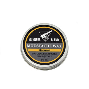Stockaman 60ml Moustache Wax - Gunners Blend