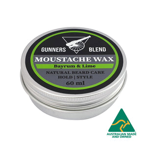 Bayrum & Lime Moustache Wax 60ml Australian Made