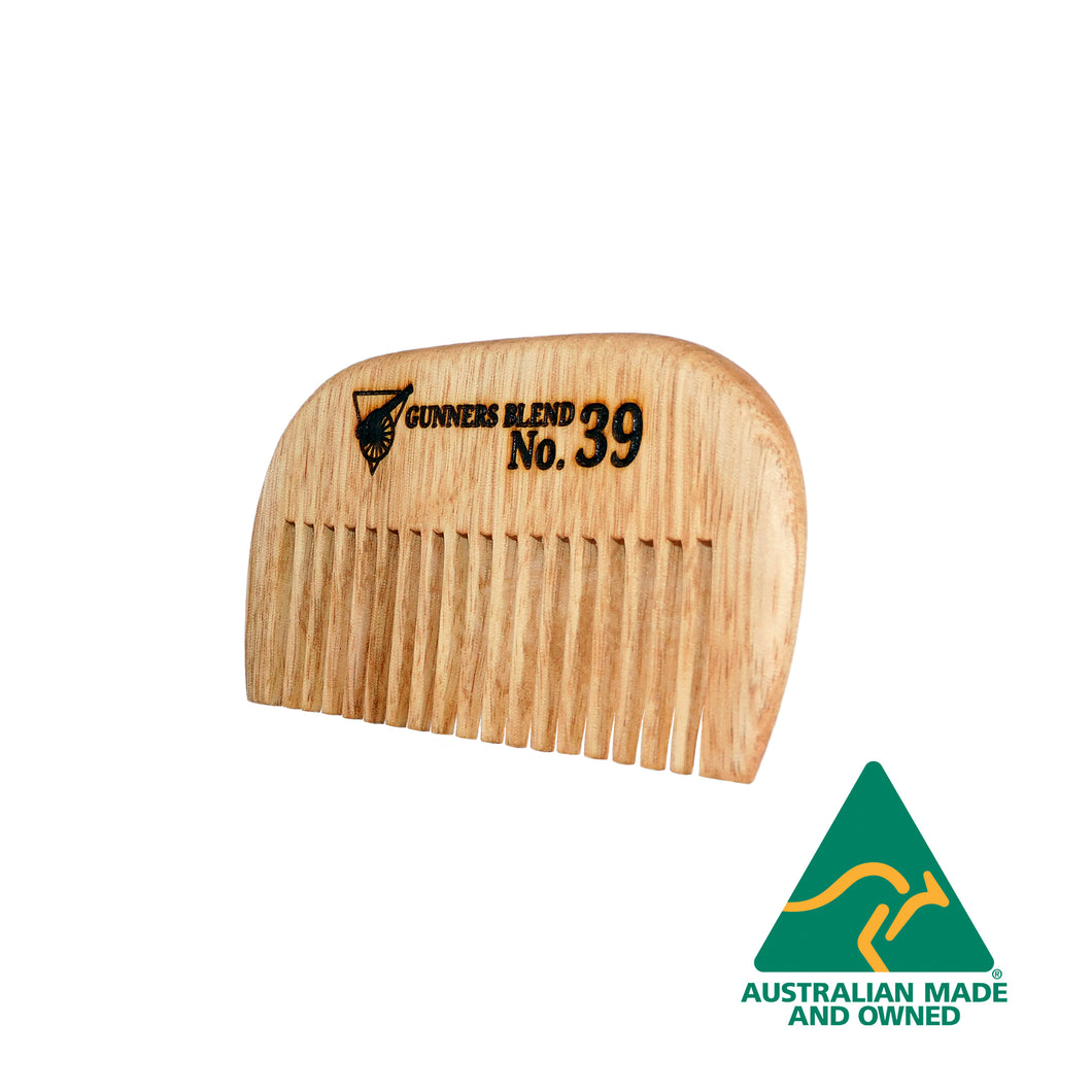 Gunners Blend Beard Comb Upright, Australian Made