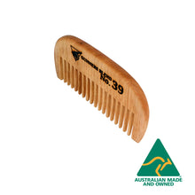 Load image into Gallery viewer, Gunners Blend Beard Comb Upright Top View, Australian Made