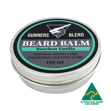 Load image into Gallery viewer, Bourbon Vanilla Beard Balm 100ml Australian Made Gunners Blend