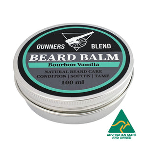 Bourbon Vanilla Beard Balm 100ml Australian Made Gunners Blend