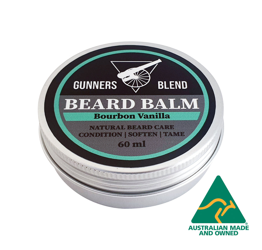 Bourbon Vanilla Beard Balm 60ml Australian Made Gunners Blend