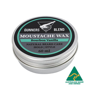 Bourbon Vanilla Moustache Wax 60ml Australian Made