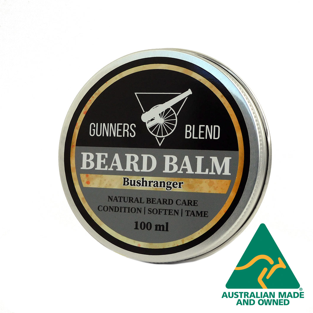 Gunners Blend Bushranger Beard Balm, Australian Made. 100ml Balm