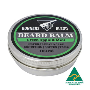 Green Apple & Mint Beard Balm 100ml Australian Made Gunners Blend