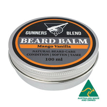 Load image into Gallery viewer, Mango Vanilla Beard Balm 100ml Australian Made Gunners Blend