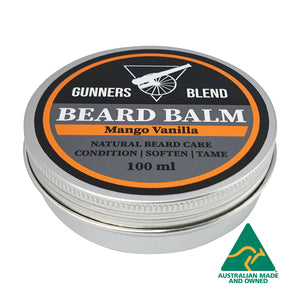 Mango Vanilla Beard Balm 100ml Australian Made Gunners Blend