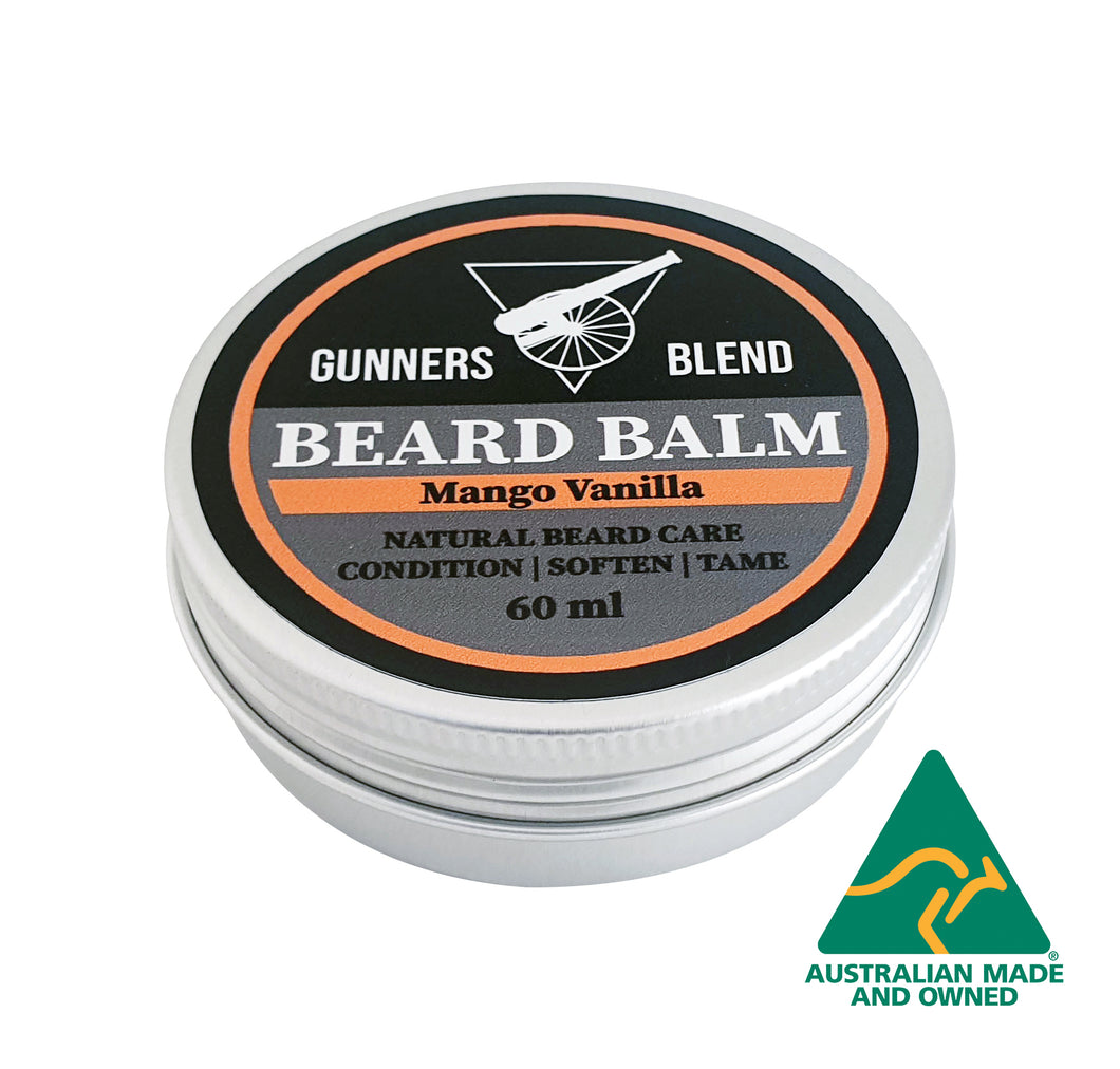 Mango Vanilla Beard Balm 60ml Australian Made Gunners Blend