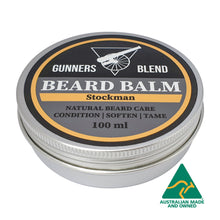 Load image into Gallery viewer, Stockman Beard Balm 100ml Australian Made Gunners Blend