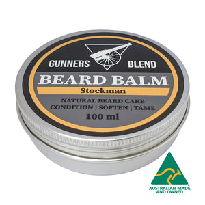 Stockman Beard Balm 100ml Australian Made Gunners Blend