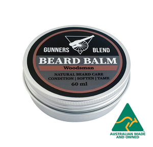Woodsman Beard Balm 60ml Australian Made Gunners Blend