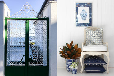 Greek Gate Trellis Fabric