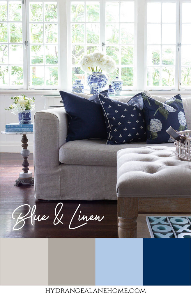 Blue and Linen Colour Scheme