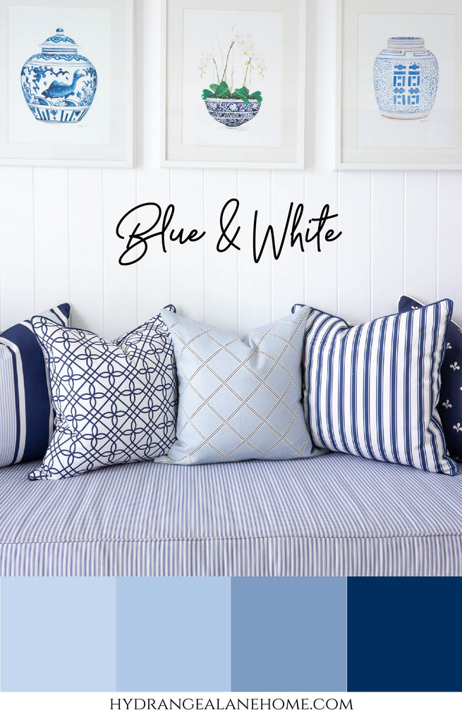 Blue and White Colour Scheme