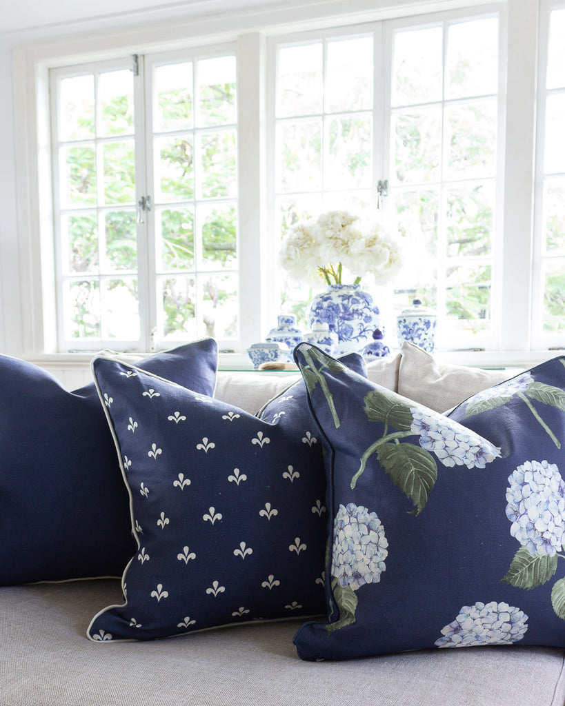 Custom Cushion Blue Hydrangea