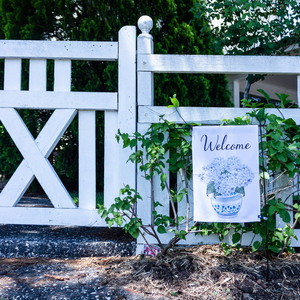 Welcome Hydrangea Garden Flag