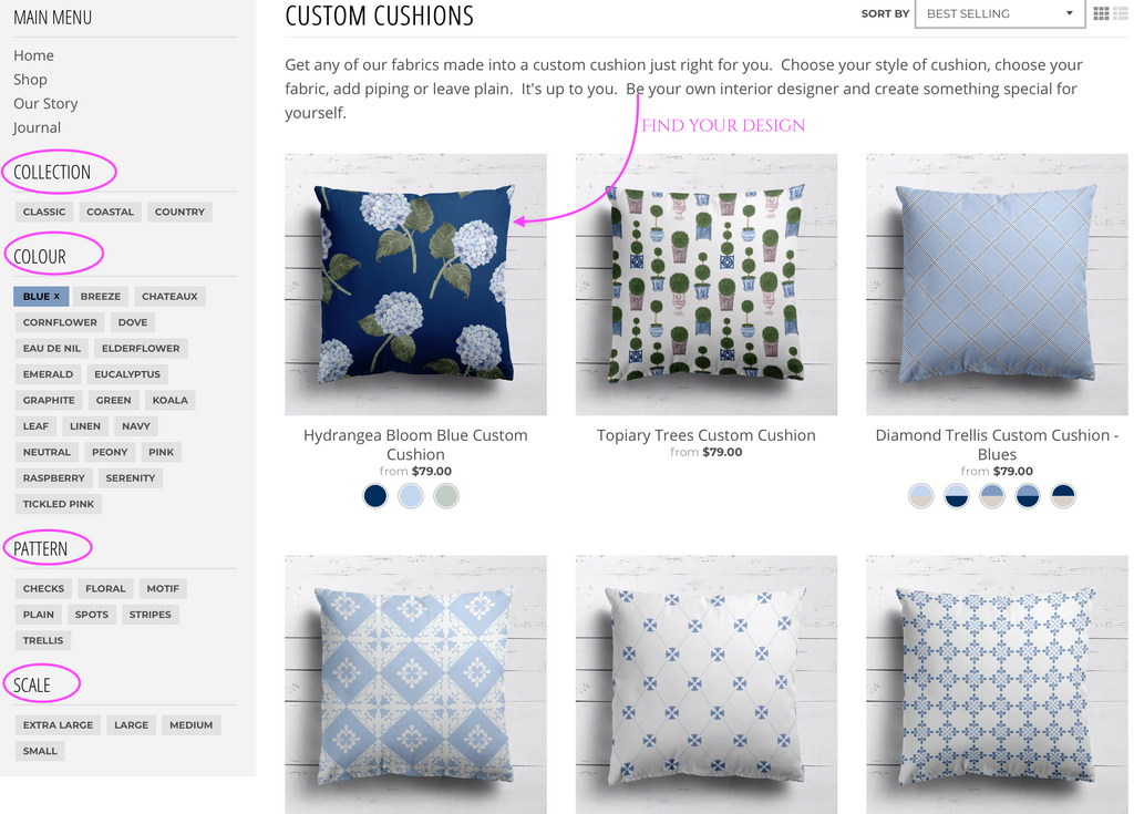 Choose Custom Cushion Design