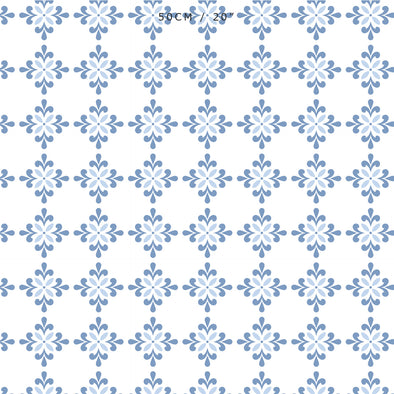 Amalfi Flower Fabric - Breeze-Serenity