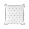 Amalfi Swish motif cotton linen cushion beige
