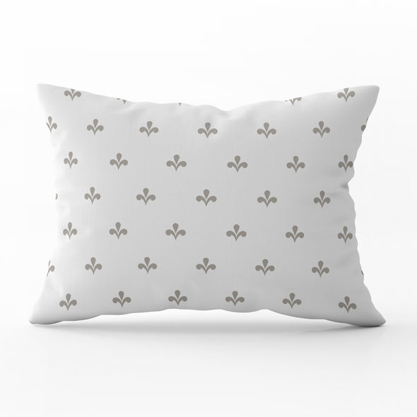 Amalfi motif beige rectangle cushion