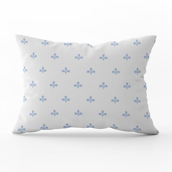Amalfi Motif Blue rectangle cushion