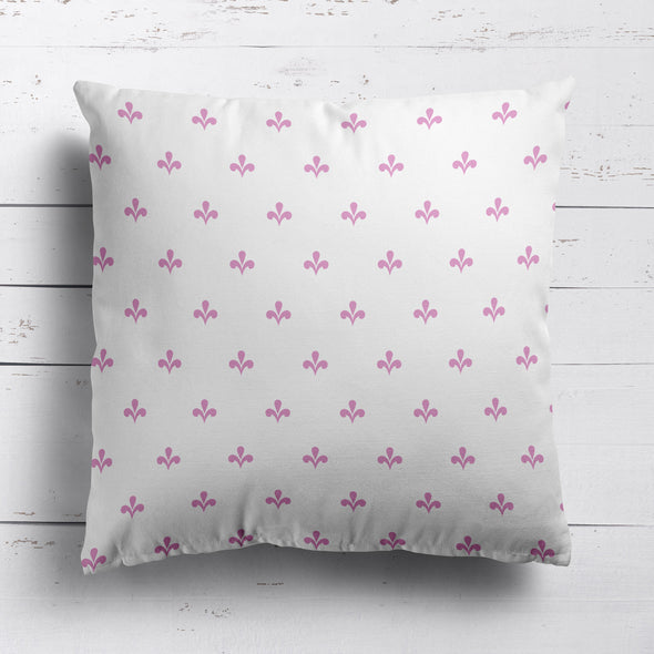 Amalfi Swish motif cotton linen cushion pink