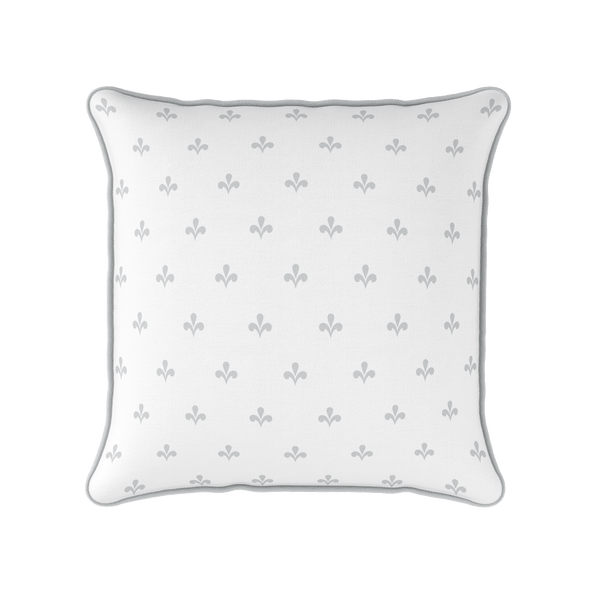 Amalfi Swish motif cotton linen cushion grey