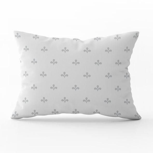 Amalfi motif dove grey rectangle cushion