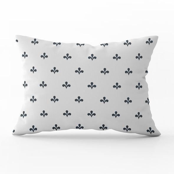 Amalfi motif dark grey rectangle cushion