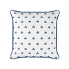 Amalfi Swish motif cotton linen cushion navy