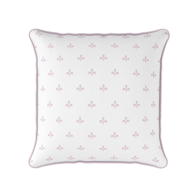 Amalfi motif peony pink piped cushion