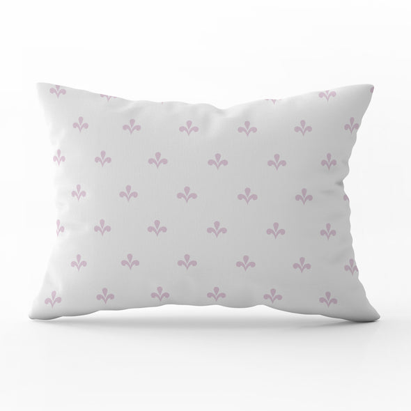 Amalfi motif peony pink rectangle cushion