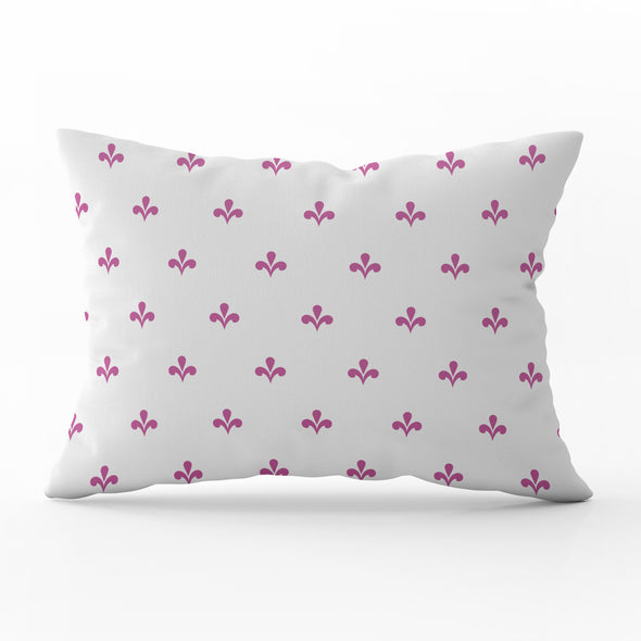 Amalfi motif raspberry pink rectangle cushion