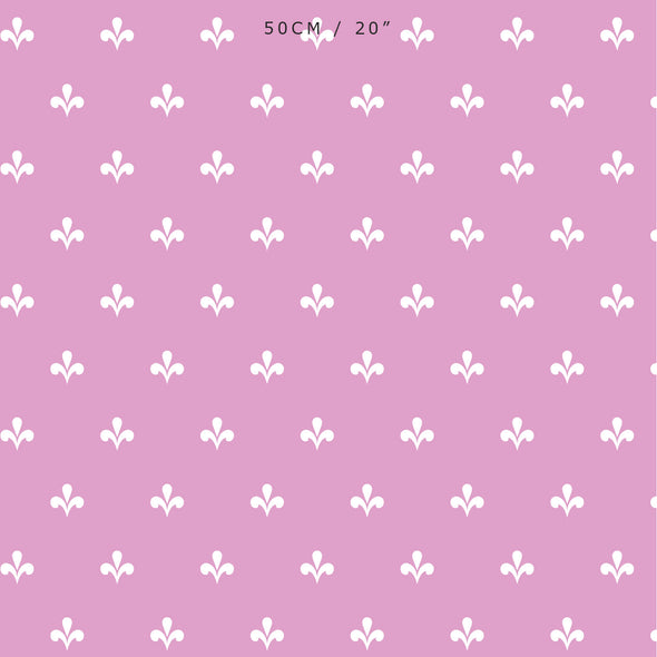 Amalfi Swish Reverse Fabric - Tickled Pink