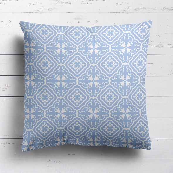 Amalfi coastal blue cushion