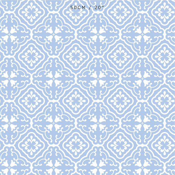 Amalfi coastal blue fabric