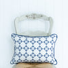 Amalfi flower motif rectangle cushion